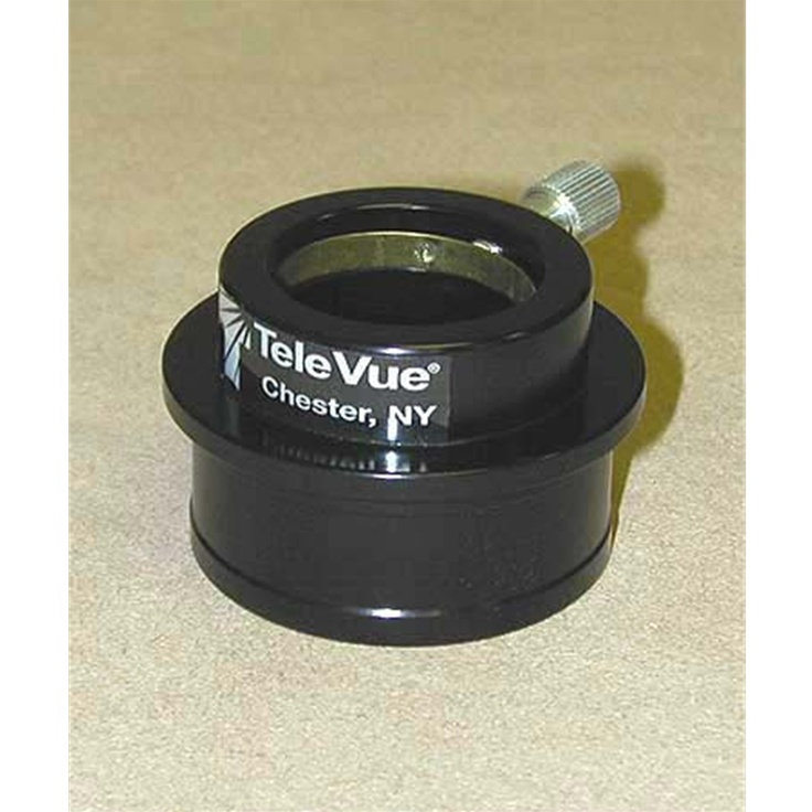 """TeleVue - High hat adapter to use 1.25"""" eyepieces in 2"""" focusers, gloss black finish"""