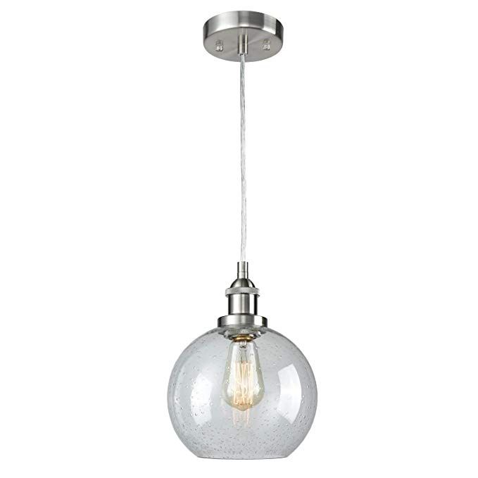Dazhuan Seeded Glass Pendant Light Contemporary Ceiling Light