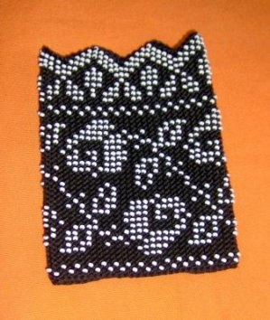 Croatian beaded cuffs w/ rose motif