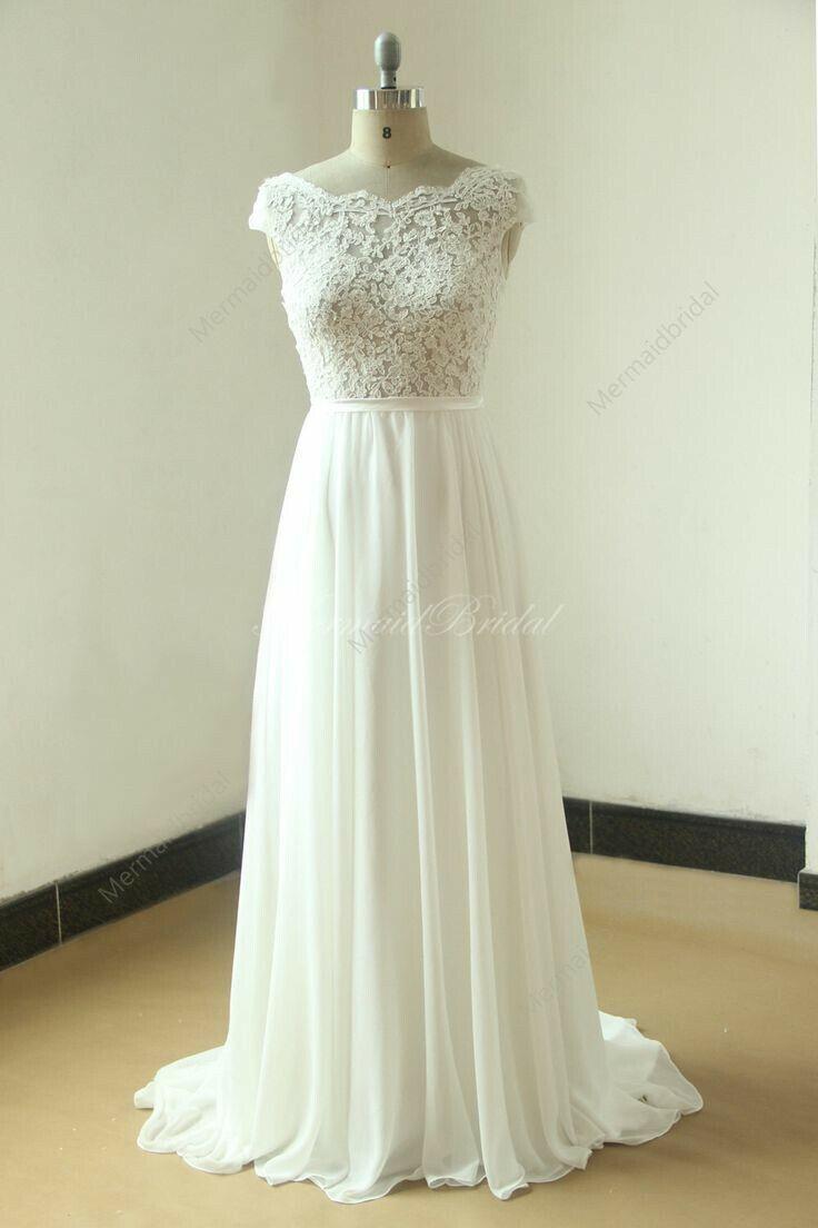 39 best kleider images on Pinterest | Lace wedding dresses, Wedding ...