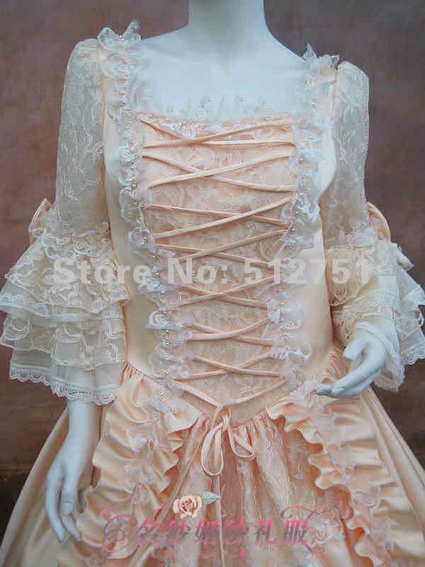 Abito di sfera Rococo barrocco reale di Champagne Marie di immagini 17 vestiti da sera della celebrità di promenade di Antoinette di XVIIIesimo secolo