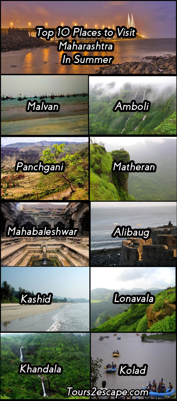 10 best places to visit in #Maharashtra #India especially in summer