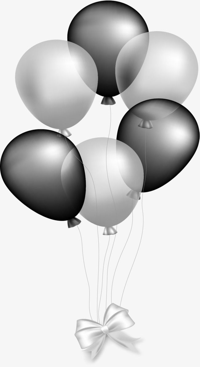 Silver Gray Balloon Balloon Clipart Vector Material Holiday Decoration Png Transparent Clipart Image And Psd File For Free Download Black And White Balloons Balloon Clipart Silver Balloon