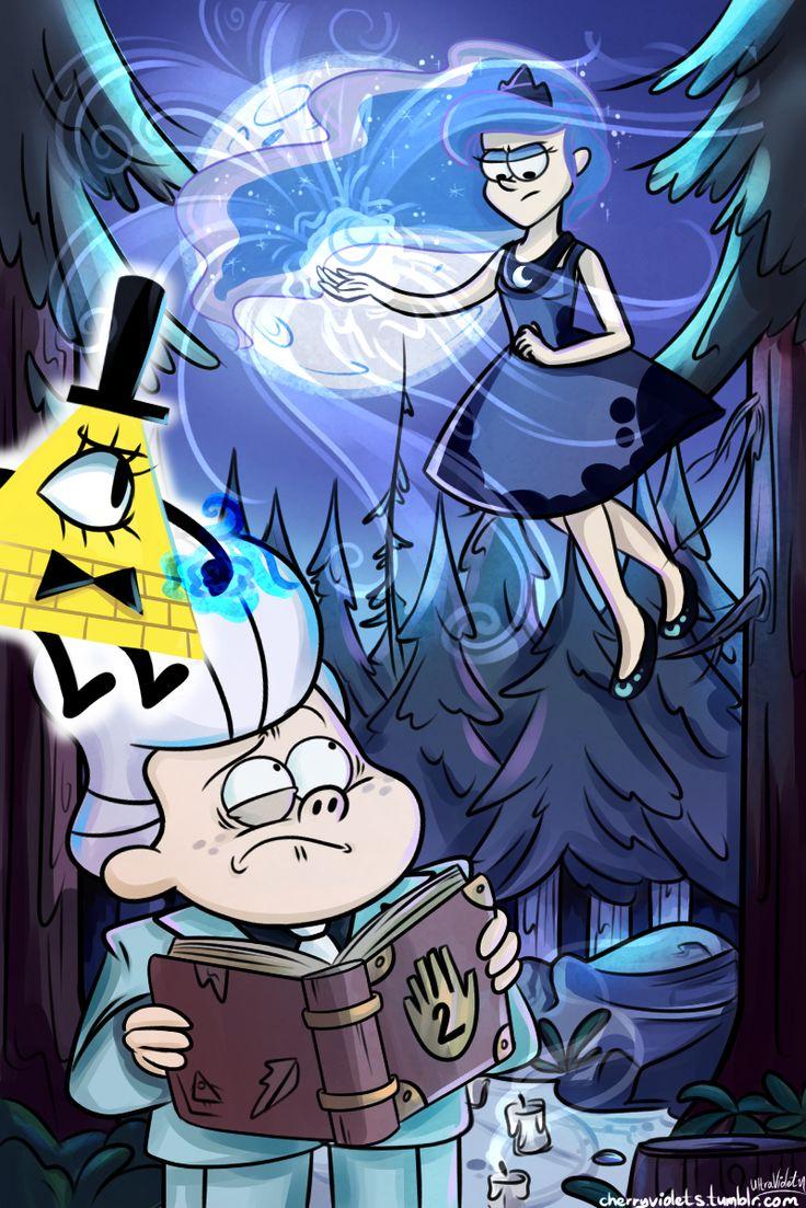 Gravity Falls crossover (human version of Princess Luna - the Guardian of Dreams)
