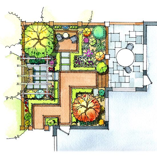Patio, Plan Your Plantings-Trees, flowers, and shrubs help a patio blend into the rest of the garden, and should not be an afterthought. Whether complex or simple, patio plantings enhance your enjoyment of the time you spend outdoors.