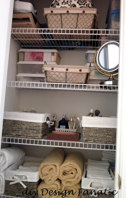 Linen closet; good organization!