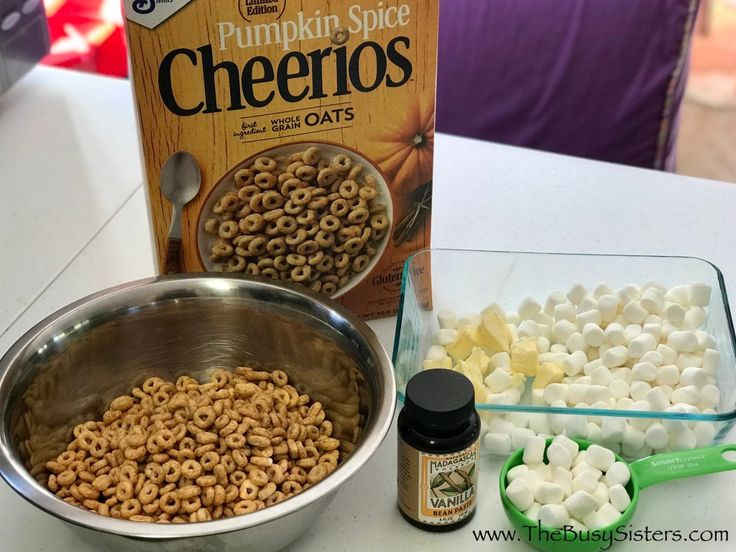 Pumpkin Spice Cheerio Treats | Recipe (With images ...