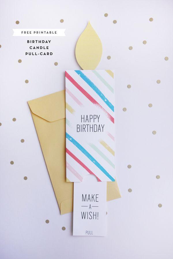 Cumpleaños para imprimir Pull-Card |  ¡Oh dia feliz!