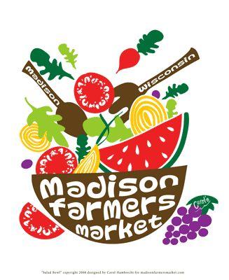 Salad Bowl Small Poster: farmers market