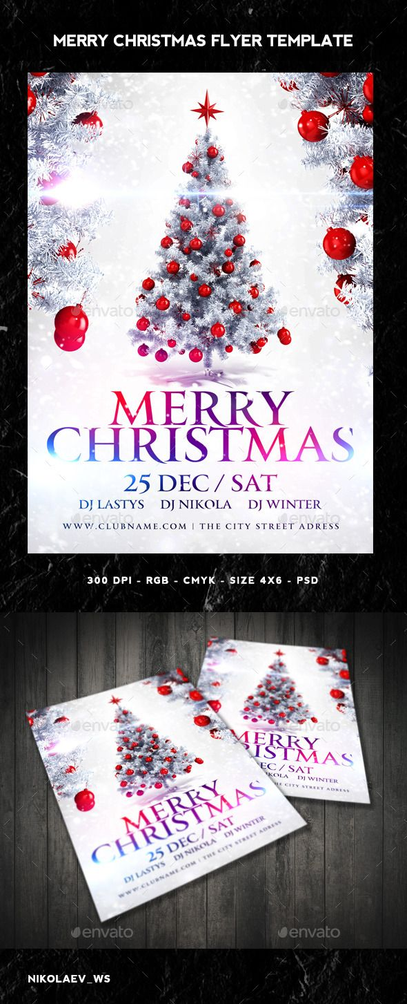 Merry Christmas Flyer Template PSD #design Download: http://graphicriver.net/item/merry-christmas-flyer/9683416?ref=ksioks