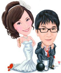 Caricature examples in Wedding Caricature and wedding cartoon