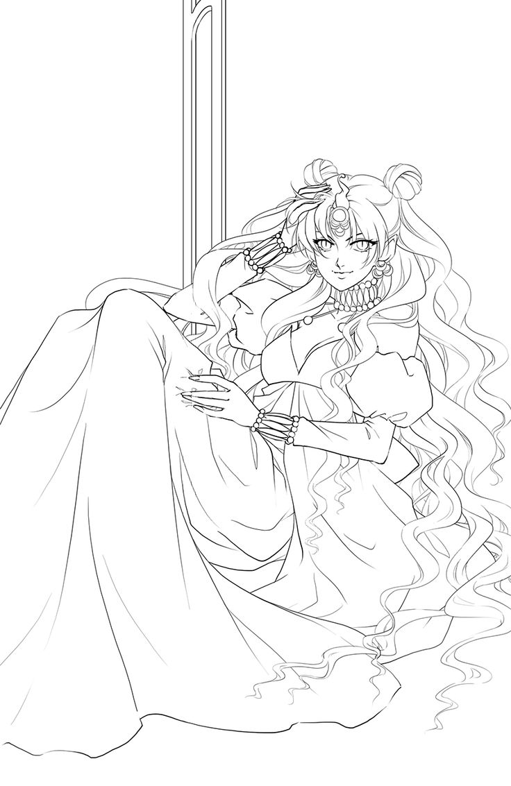 Line Art Render : Best queen nehelenia images on pinterest sailor moon