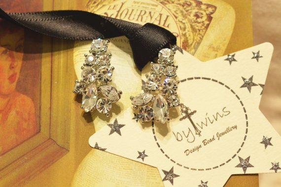 Crystal Bridal Set  Wedding Set  Crystal Necklace and by BYTWINS