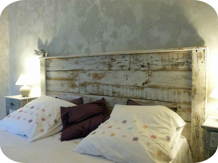 1000 id es sur le th me t te de lit en bois sur pinterest - Tete de lit planche de bois ...