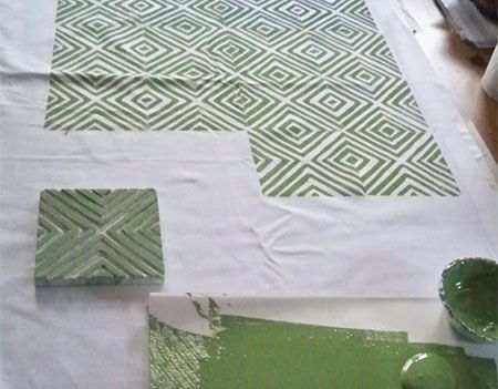 Home-Dzine - How to block print on fabric