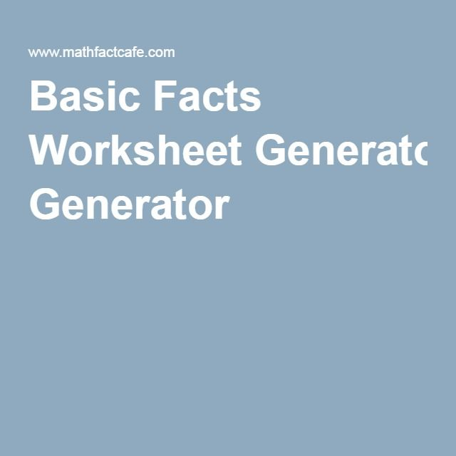 math worksheet : math multiplication facts worksheet generator  basic handwriting  : Math Worksheet Generators