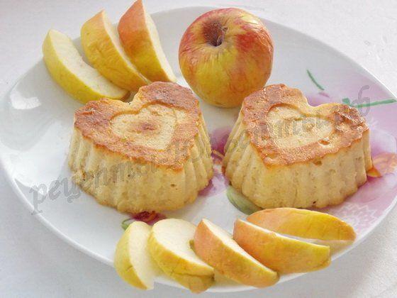 Яблочные кексы без муки
