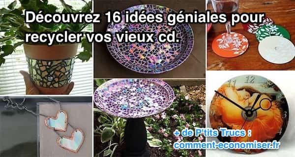 16 Idées Géniales Pour Recycler les Vieux CD.