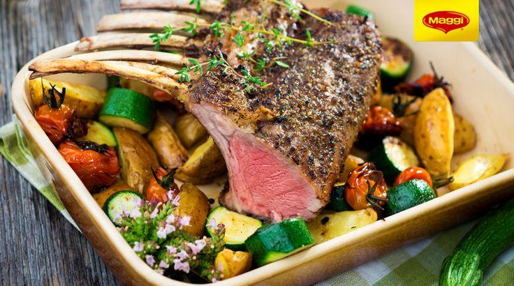 Lamb with vegetables // Miel cu legume la cuptor  Descopera si mai multe retete de Paste pe  https://www.maggi.ro/retete
