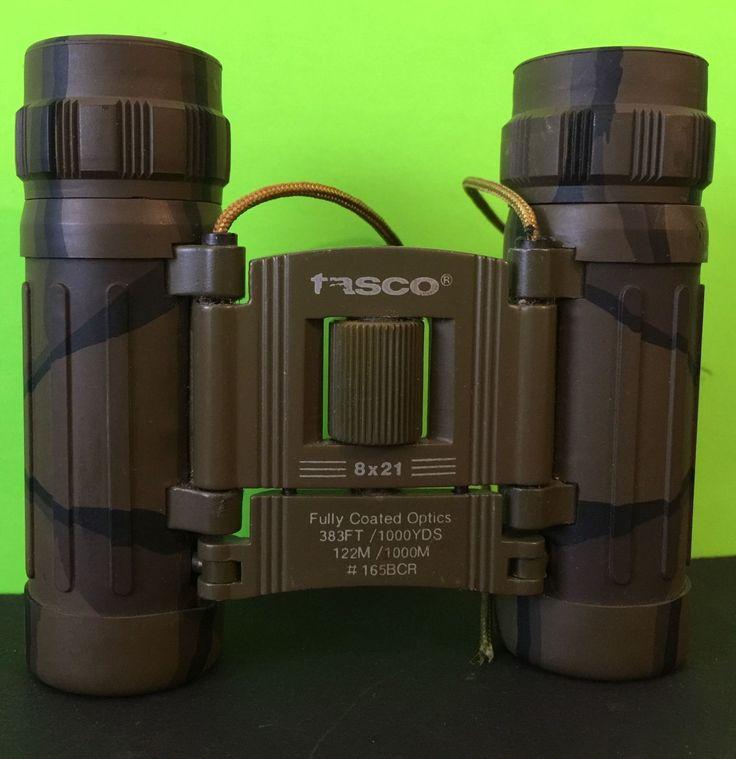 Tasco Binoculars 8 X 21 Camouflage Model 165BCR in Sporting Goods, Hunting, Scopes, Optics & Lasers, Hunting Binoculars | eBay