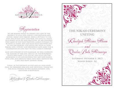 Signatures by Sarah: Wedding Stationery for Khadijah