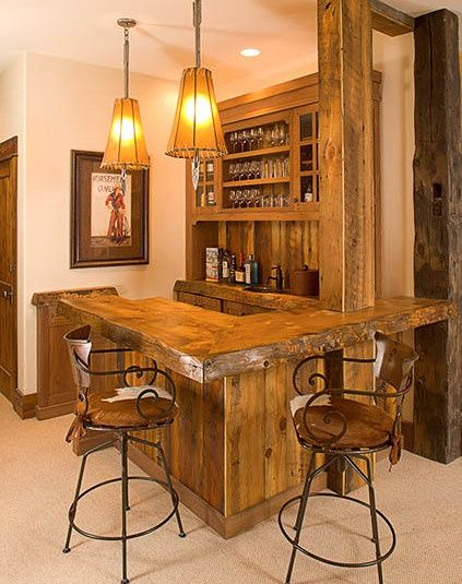 Rustic western saloon bar in your home!