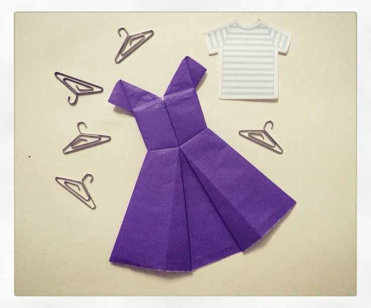 оригами платье открытка в доу