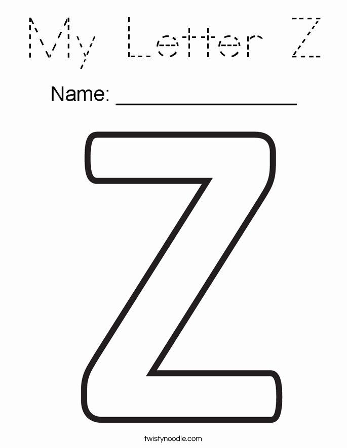 Letter Z Coloring Pages Elegant My Letter Z Coloring Page Tracing Twisty Noodle Dragon Coloring Blog Flag Coloring Pages Coloring Pages Letter Z