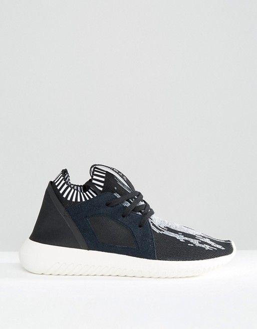 Adidas   Черные кроссовки с принтом adidas Originals Primeknit Tubular