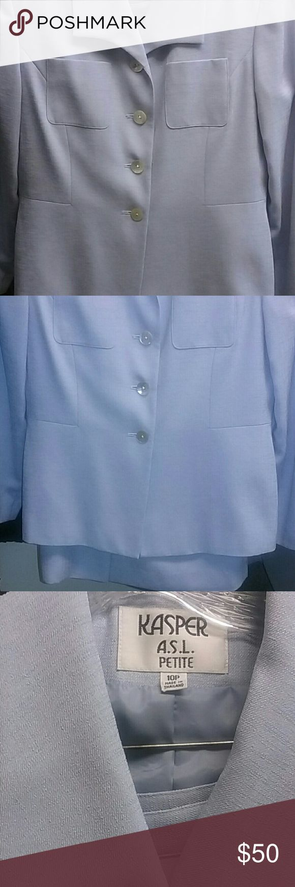 Cool Kasper suiting 2 pc lined  Nwot light wt material pic #1 is color  of dress cover shot year round Kasper Dresses Mini