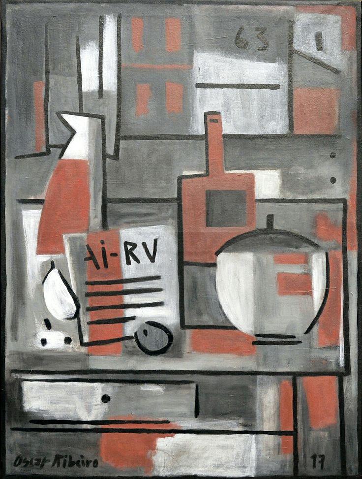 """Oscar Ribeiro """"Bodegón 63"""" Acrílico sobre tela 130 X 97 cm. Año 2017"""