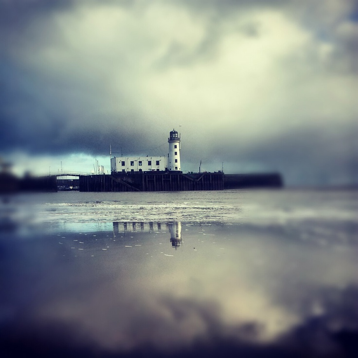 Southbay Lighthouse, Scarborough UK. http://flotsamblog.co.uk/so-much-more-than-a-trip-to-the-seaside/