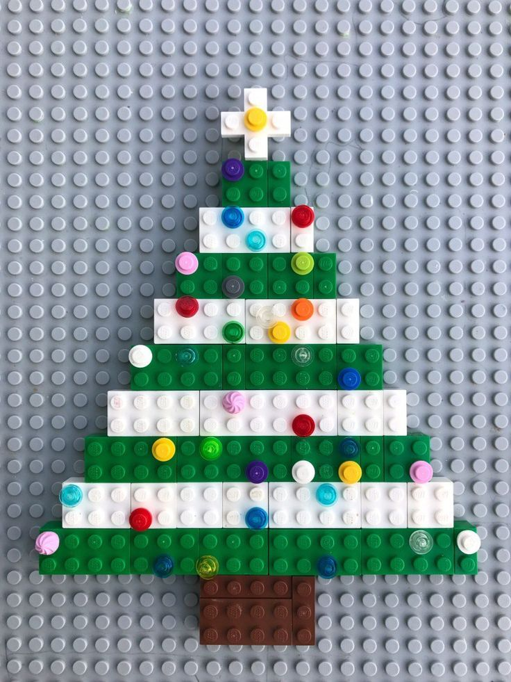LEGO Christmas activity - build and decorate your own LEGO Christmas tree!