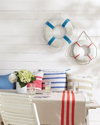 """See the """"Decorate with Nautical Stripes"""" in our Beach Party Ideas gallery"""