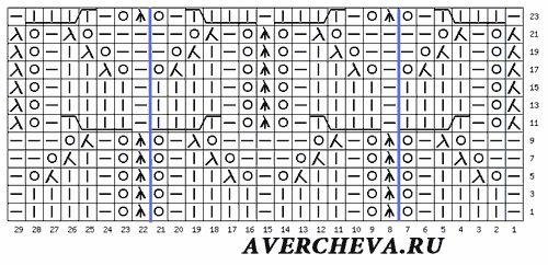 схема узора 495