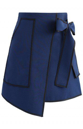 Urban Vogue Flap Skirt in Navy - Skirt - Bottoms - Retro, Indie and Unique Fashion