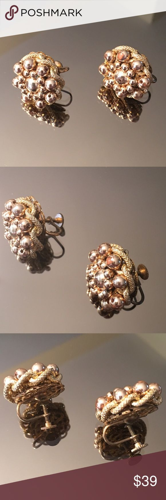 Antique 1930's Screw Back Earrings