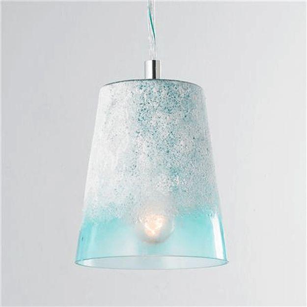 frosted light turquoise glass pendant light, pantone island paradise, tiffany blue, caribbean blue, sky blue, light blue, baby blue