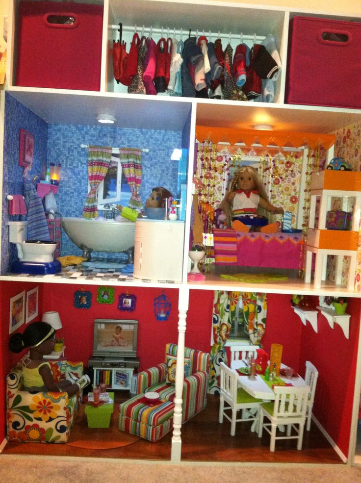 Barbie Girl Bedroom and Doll Bathroom Toys Play in Glam ...