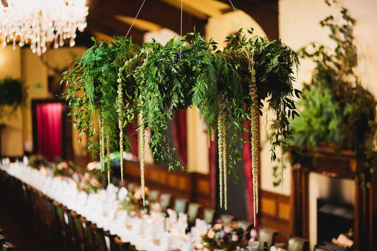 www.estelleflowers.co.nz | Decadent Wedding Chandelier | Dunedin, NZ | Chris Garden Photography.