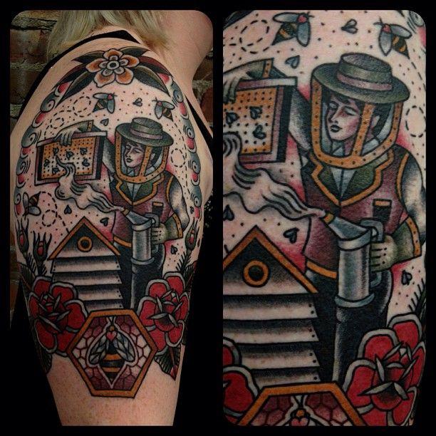 traditional-american-tattoo-half-sleeve