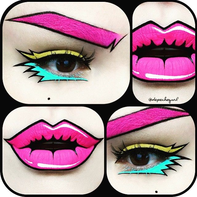 How cool is this makeup from @depechegurl ?! I love the colors and her precision with her outlines! This is so good! #cool #makeup