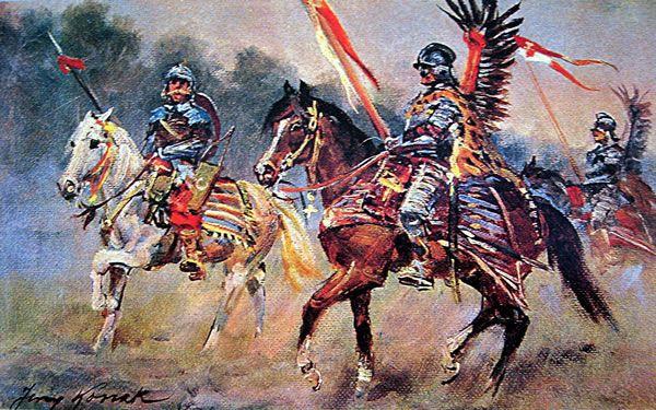 hussar and haevy armoured cavalry man - towarzysz pancerny j_kossak