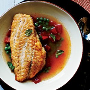 Snapper in Tomato Broth Recipe | MyRecipes.com