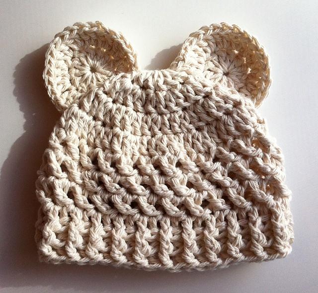 Crochet Baby Bear Beanie Pattern : 17 Best images about Crochet Caps on Pinterest Free ...