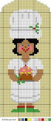 cuisine - kitchen - gâteau - point de croix - cross stitch - Blog : http://broderiemimie44.canalblog.com/