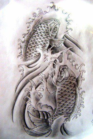 tatuajes de pez koi diseños y significado parte 3