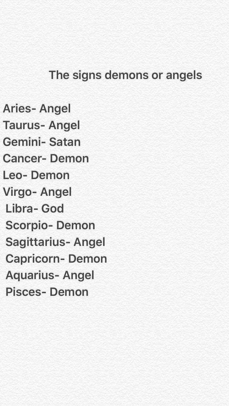 Wicked... Libra is God? & Gemini is Satan! Really weird Cos I'm a Libra and my BFF is a Gemini