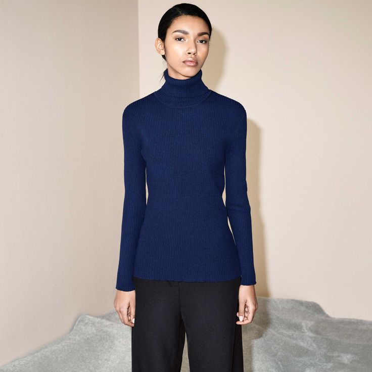 FWSS SUZANNE SWEATER  DRESS BLUE  http://fallwinterspringsummer.com/