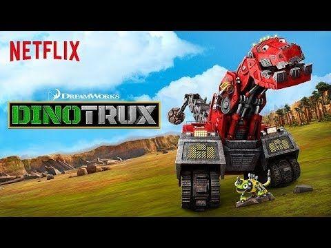 Dino Trux - Game ô tô hoạt hình robot khủng long xây tượng đài